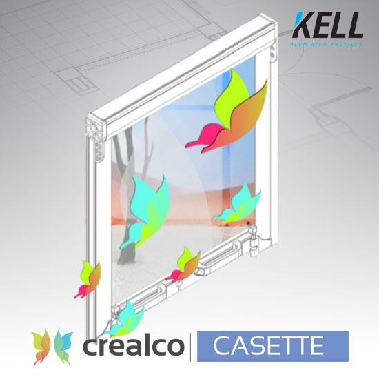 Cassette Roll-up Insect Screen for Windows