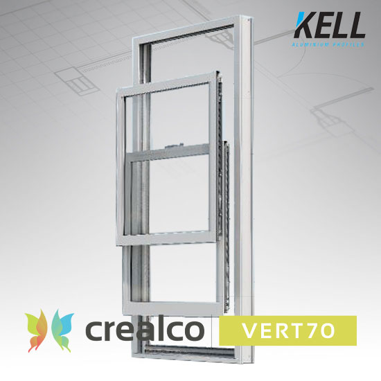 Vert70 Vertical Sliding window